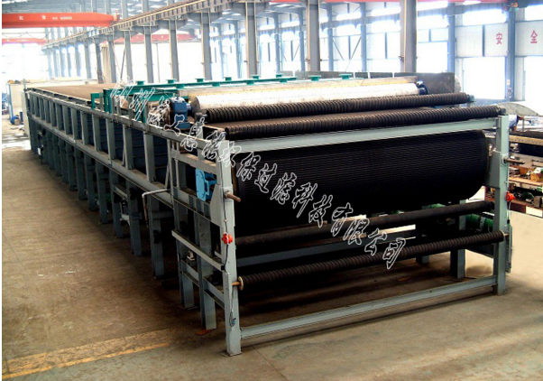 Vacuum dewatering equipment for dry tailings